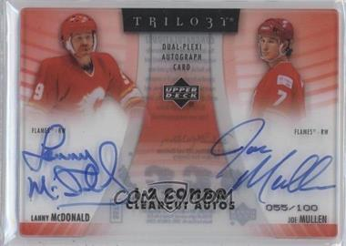 2006-07 Upper Deck Trilogy 1-2 Combos Clearcut Autographs #C2-MM - Lanny McDonald, Joe Mullen /100