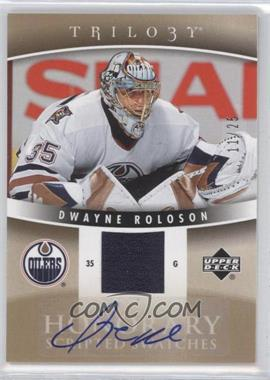 2006-07 Upper Deck Trilogy Honorary Scripted Swatches #HSS-DR - Dwayne Roloson /25