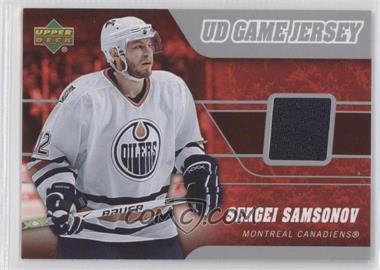 2006-07 Upper Deck UD Game Jersey #J-SS - Sergei Samsonov
