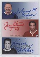 Johnny Bower, Jean Beliveau, Howie Meeker /20