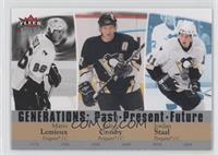 Mario Lemieux, Sidney Crosby, Jordan Staal