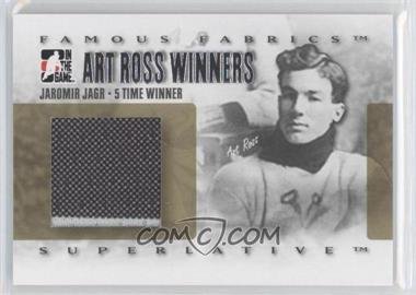 2007-08 In the Game Superlative Famous Fabrics Art Ross Winners Silver #ARW-11 - Jaromir Jagr /9