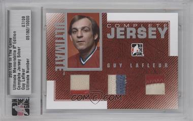 2007-08 In the Game Ultimate Memorabilia 8th Edition Complete Jersey Silver #5182 - Guy Lafleur /9