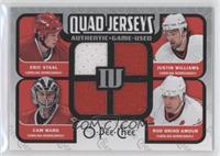 Cam Ward, Eric Staal, Rod Brind'Amour, Justin Williams