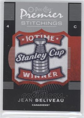 2007-08 O-Pee-Chee Premier Stitchings Variation #PS-JB - Jean Beliveau /99