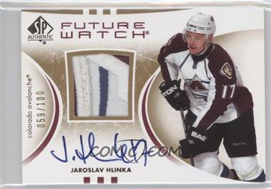 2007-08 SP Authentic Future Watch Limited Patches [Autographed] #205 - Jaroslav Hlinka /100