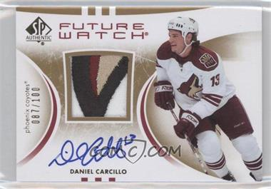 2007-08 SP Authentic Future Watch Limited Patches [Autographed] #239 - Daniel Carcillo /100