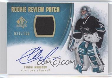2007-08 SP Authentic Rookie Review Patch [Autographed] #RR-EN - Evgeni Nabokov /100