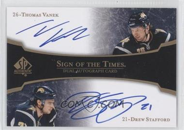 2007-08 SP Authentic Sign of the Times Dual [Autographed] #ST2-2 - Thomas Vanek, Drew Stafford