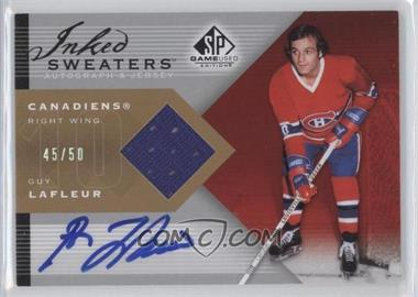 2007-08 SP Game Used Edition - Inked Sweaters - [Autographed] #IS-GL - Guy Lafleur /50