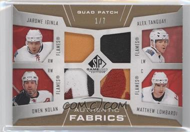 2007-08 SP Game Used Edition Authentic Fabrics Quad Patch #AF4-CGY - Jarome Iginla, Alex Tanguay, Owen Nolan, Matthew Lombardi /7