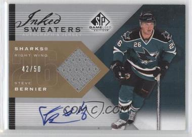 2007-08 SP Game Used Edition Inked Sweaters [Autographed] #IS-SB - Steve Bernier /50