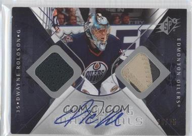 2007-08 SPx Winning Materials Autographs #WM-DR - Dwayne Roloson /25