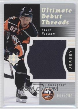 2007-08 Ultimate Collection [???] #DT-FN - Frans Nielsen /200