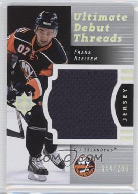 2007-08 Ultimate Collection Ultimate Debut Threads #DT-FN - Frans Nielsen /200