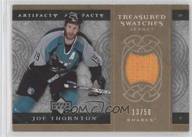 2007-08 Upper Deck Artifacts - Treasured Swatches - Gold #TS-JT - Joe Thornton /50