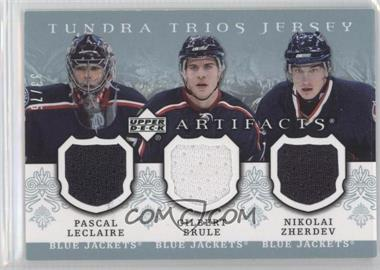 2007-08 Upper Deck Artifacts Tundra Trios Jerseys Blue #T3-3 - Pascal Leclaire, Gilbert Brule, Nikolai Zherdev /75