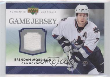 2007-08 Upper Deck Game Jersey #J-BM - Brendan Morrison