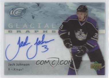 2007-08 Upper Deck Ice - Glacial Graphs #GG-JJ - Jack Johnson