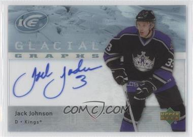 2007-08 Upper Deck Ice Glacial Graphs [Autographed] #GG-JJ - Jack Johnson