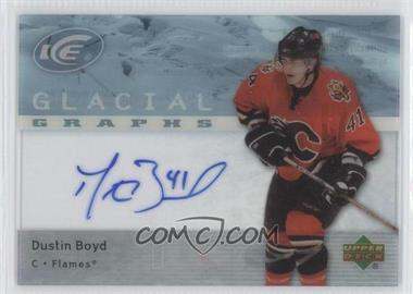2007-08 Upper Deck Ice Glacial Graphs #GG-BO - Dustin Boyd