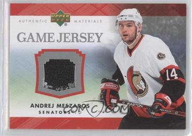 2007-08 Upper Deck Series 1 Game Jersey #J-ME - Andrej Meszaros