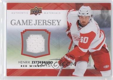 2007-08 Upper Deck Series 2 Game Jersey #GJ2-HZ - Henrik Zetterberg