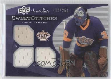 2007-08 Upper Deck Sweet Shot Sweet Stitches #SST-RV - Rogie Vachon /250