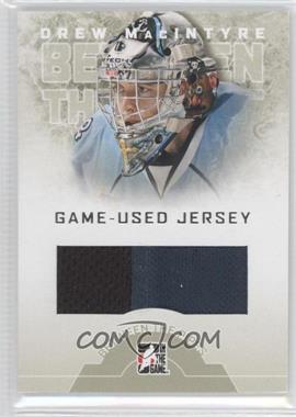 2008-09 In the Game Between the Pipes Game-Used Jersey #GUJ-23 - Drew MacIntyre /90