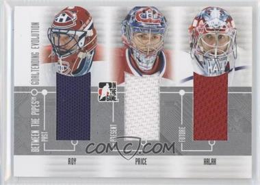 2008-09 In the Game Between the Pipes Goaltending Evolution #GE-01 - Patrick Roy, Carey Price, Jaroslav Halak