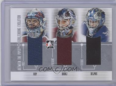 2008-09 In the Game Between the Pipes Goaltending Evolution #GE-5 - Patrick Roy, Peter Budaj, Peter DeBoer
