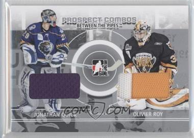 2008-09 In the Game Between the Pipes Prospect Combos #PC-09 - Johnathan Quick