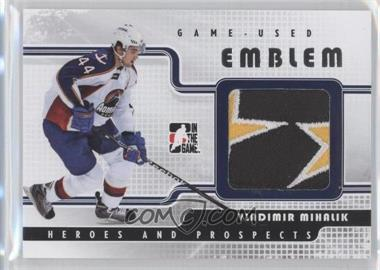 2008-09 In the Game Heroes and Prospects Game Used Emblems Silver #GUE-45 - Vladimir Mihalik /9