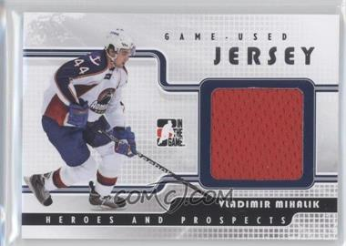 2008-09 In the Game Heroes and Prospects Game Used Jersey Silver #GUJ-45 - Vladimir Mihalik /100