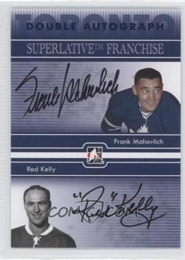 2008-09 In the Game Superlative Franchise Double Autographs Blue #DA-MK - Red Kelly, Frank Mahovlich /25
