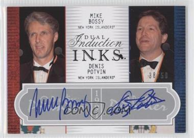 2008-09 O-Pee-Chee Premier Dual Induction Inks #2PI-BP - Mike Bossy, Denis Potvin /50