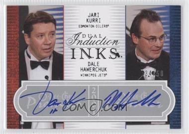 2008-09 O-Pee-Chee Premier Dual Induction Inks #2PI-KH - Jari Kurri, Dale Hawerchuk /50