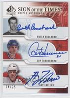 Butch Bouchard, Guy Carbonneau, Guy Lafleur /25