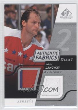 2008-09 SP Game Used Edition - Authentic Fabrics Dual #AF-RL - Rod Langway