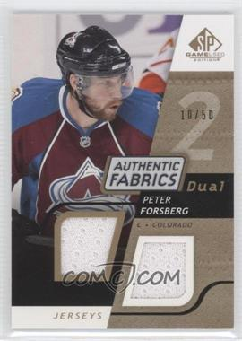 2008-09 SP Game Used Edition Authentic Fabrics Dual Gold #AF-PF - Peter Forsberg /50