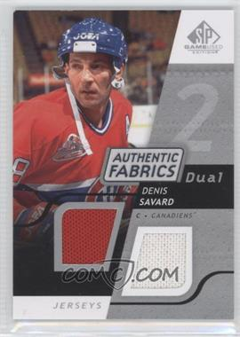 2008-09 SP Game Used Edition Authentic Fabrics Dual #AF-DS - Denis Savard