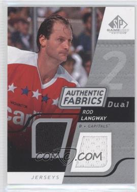 2008-09 SP Game Used Edition Authentic Fabrics Dual #AF-RL - Rod Langway