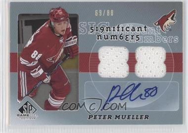 2008-09 SP Game Used Edition Significant Numbers [Autographed] #SN-PM - Peter Mueller /88