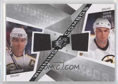 2008-09 SPx - Winning Combos #WC-BO - Ray Bourque, Adam Oates