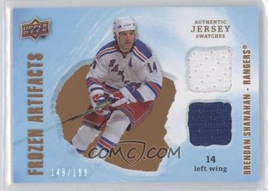 2008-09 Upper Deck Artifacts - Frozen Artifacts Jersey - Dual #FAD-BS - Brendan Shanahan /199