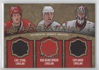 Eric Staal, Rod Brind'Amour, Cam Ward /75