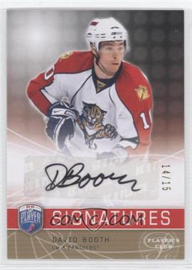 2008-09 Upper Deck Be a Player - Signatures - Player's Club #S-BO - David Booth /15