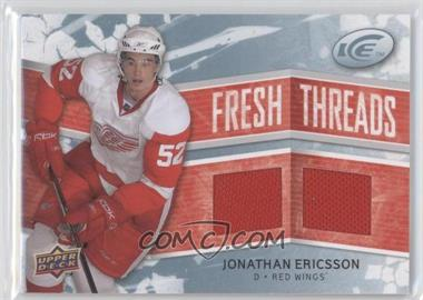 2008-09 Upper Deck Ice Fresh Threads #FT-JE - Jonathan Ericsson