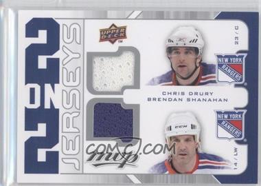 2008-09 Upper Deck MVP - 2 on 2 Jerseys #J2-DSTC - Jeff Tambellini, Chris Drury, Brendan Shanahan, Mike Comrie