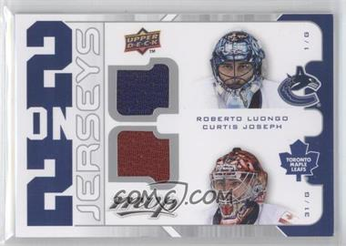 2008-09 Upper Deck MVP 2 on 2 Jerseys #J2-LCLT - Tim Thomas, Roberto Luongo, Pascal Leclaire, Curtis Joseph